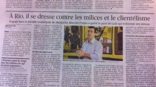 Candidato à prefeitura do Rio de Janeiro, Marcelo Freixo é destaque na edição do Le figaro desta sexta (5 de outubro)