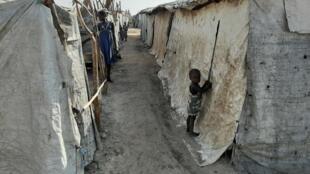 O campo de refugiados de Bentiu, no Sudão do Sul.