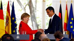 رهبران اسپانیا و آلمان