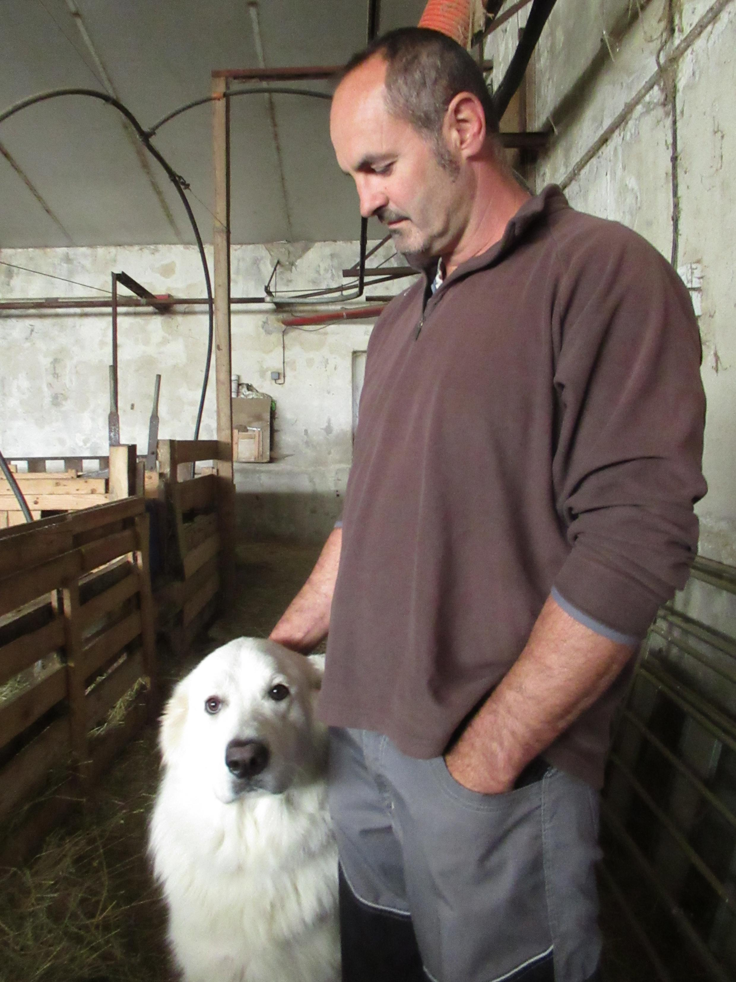 Laurent Fages and his Patou.