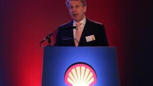 Ben van Beurden, PDG de Shell, lors de la conférence de presse donnée ce jeudi 30 janvier à Londres.