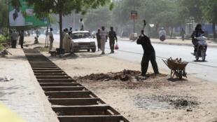 Une rue de Ndjamena, au Tchad.