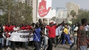 Manifestation à Dakar, le 23 juin 2011