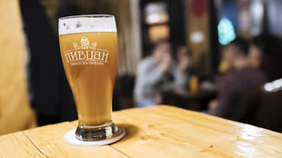 In the Serbian enclave of Gracanica, Zarica and her husband recently opened a bar where they sell their home made craft beer. Here's their brand: Pirdzan - Gracanica, Kosovo.