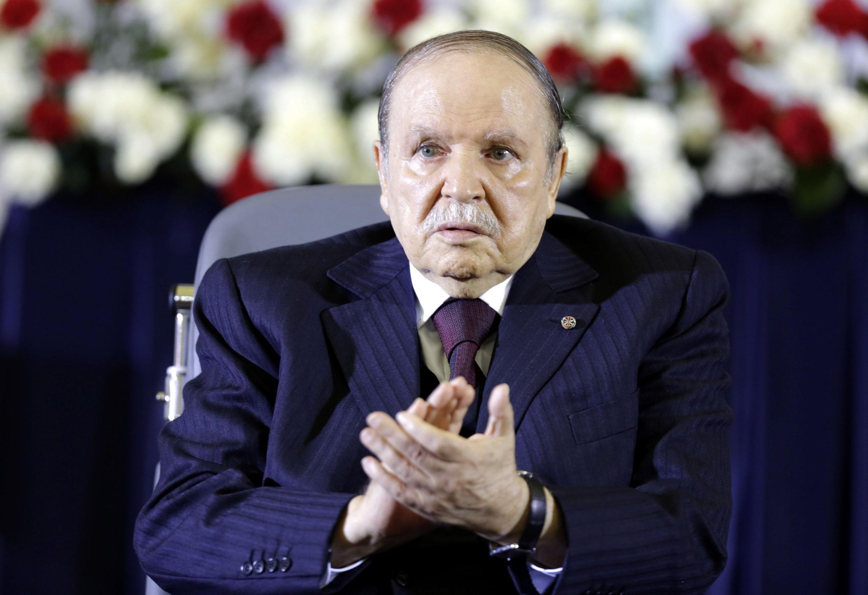 Le président algérien, Abdelaziz Bouteflika, lors de la prestation de serment pour son 4ème mandat, le 28 avril 2014.