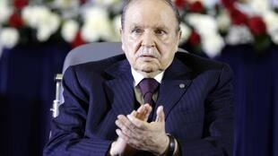 Algerian President Abdelaziz Bouteflika at his swearing-in in April
