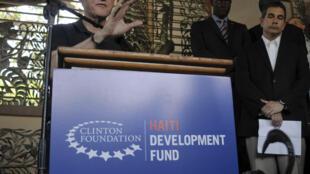 Bill Clinton in Haiti in August