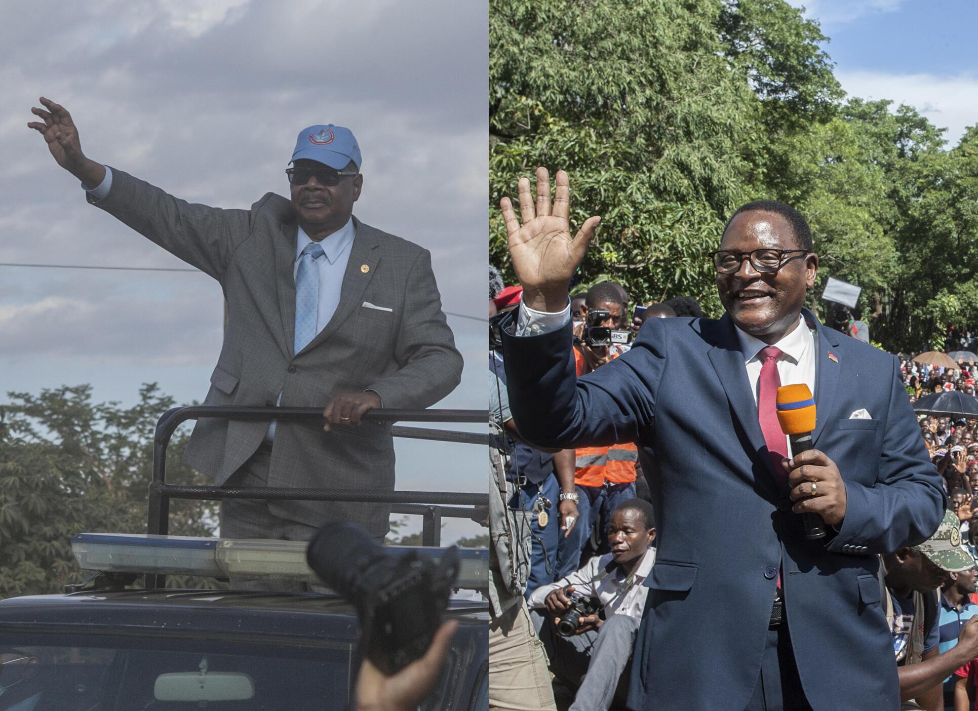 Os dois principais candidatos às presidenciais de hoje, presidente cessante, Peter Mutharika e o líder da oposição, Lazarus Chakwera