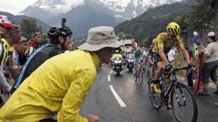 Chặng cuối của cuộc đua Tour de France, trên dãy Alpes, ngày 22/07/2016.