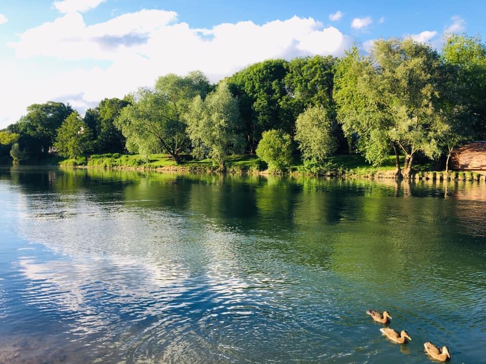 Sông Marne, đoạn chảy qua ngoại ô phía đông nam Paris.
