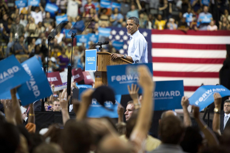 Tổng thống B.Obama vận động tranh cử tại đại học Commonwealth, Richmond, Virginia, Hoa Kỳ, 05/05/2012