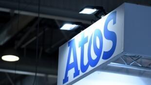 Le logo de l'entreprise Atos.