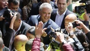 Yvan Duque, tổng thống Colombia tân cử tại Bogota. Ảnh ngày 17/06/2018.