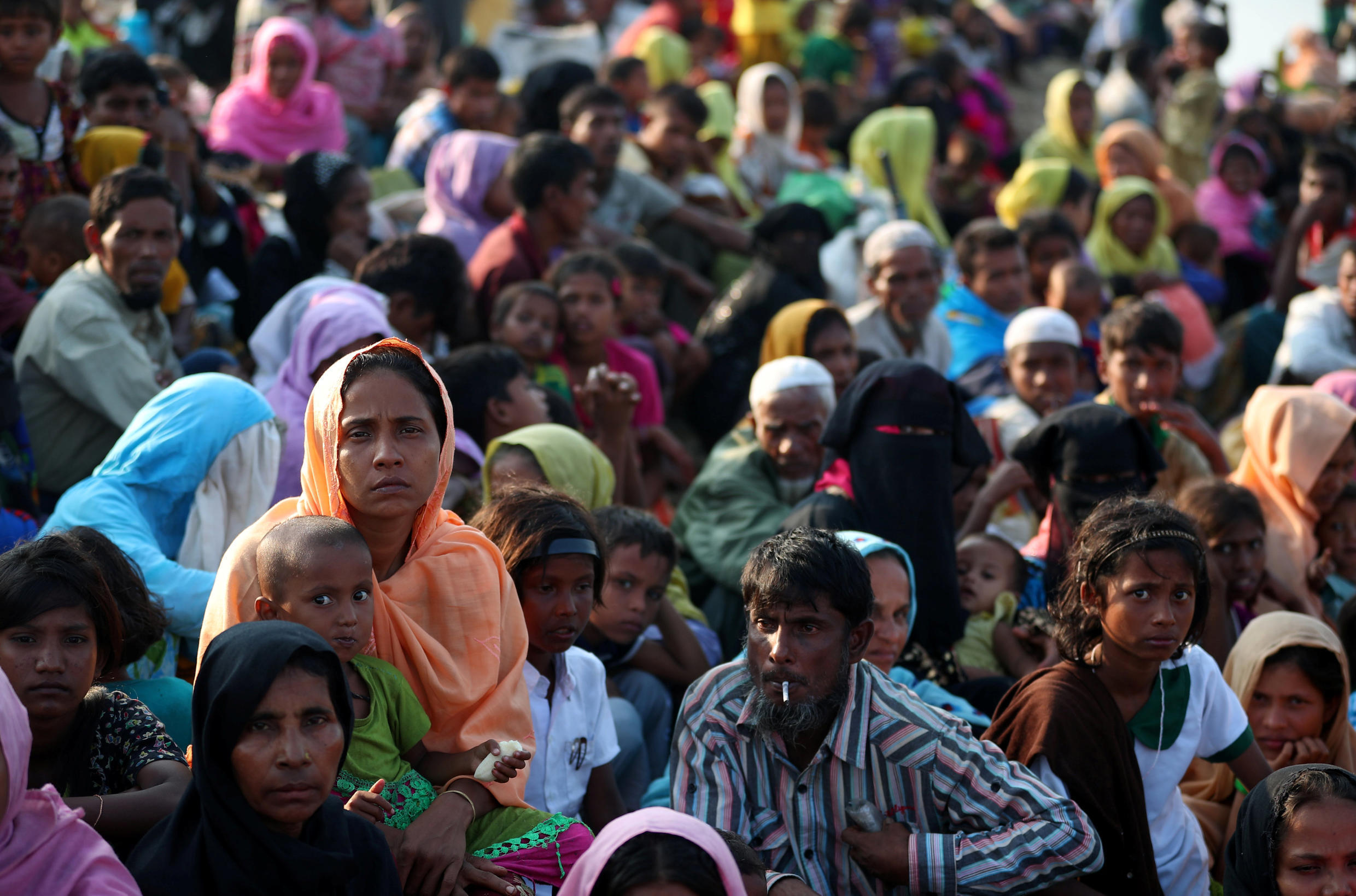 Rohingya refugees in Bangladesh. Cox Bazar, location of the largest concentration of refugees is now in full lockdown.