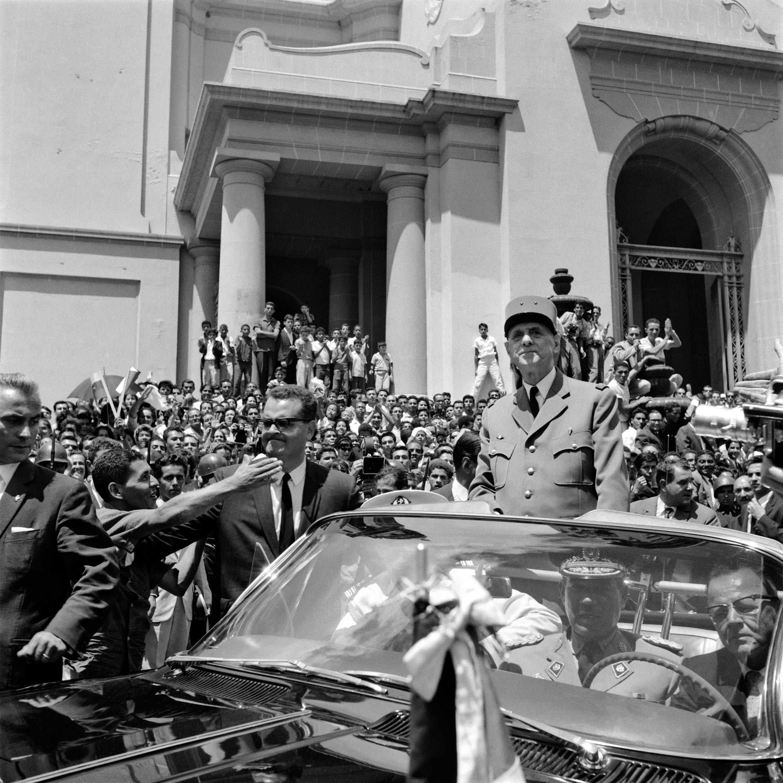 El general de Gaulle en Caracas, la capital venezolana, en septiembre de 1964.