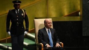 Le président irakien Barham Saleh, en septembre 2019 à l'Assemblée générale des Nations unies, à New York.