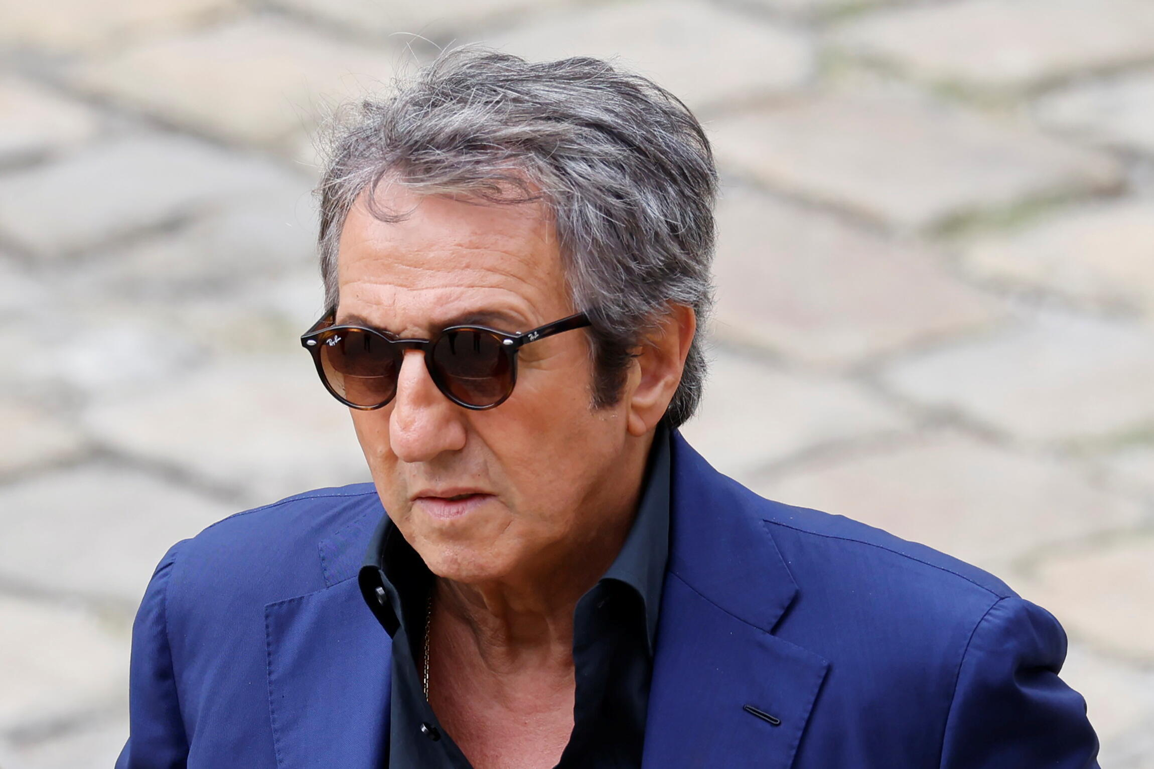 Richard Anconina arrives to attend a national tribute to the late actor Jean-Paul Belmondo during a ceremony at the Hotel des Invalides in Paris, France, September 9, 2021.