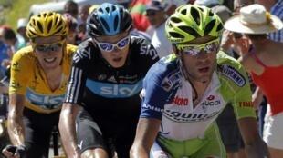 Vincenzo Nibali, lors du Tour de France 2012.