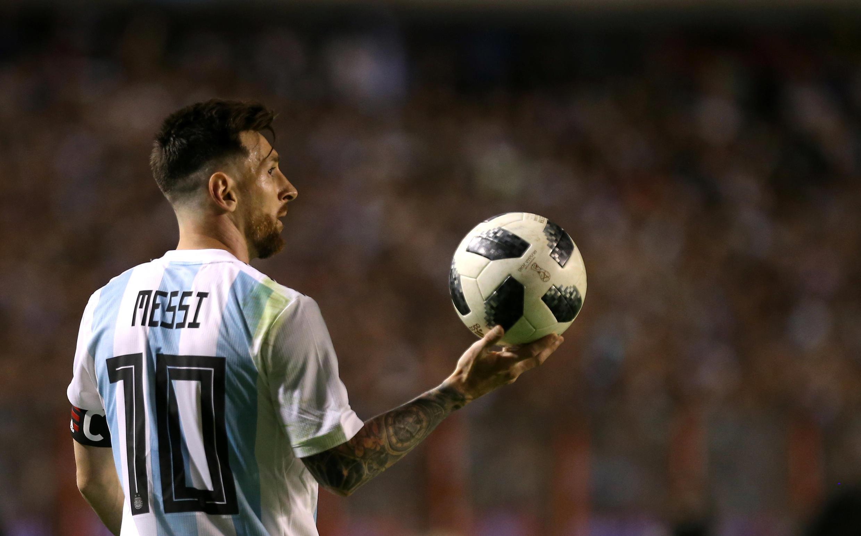 Lionel Messi, nahodha wa timu ya taifa ya Argentina na amekuwa akilengwa na vitisho kutoka kwa raia wa Palestina