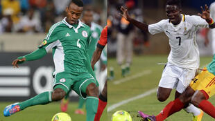 Le Nigérian Ugonna Meshark Uzochukwu (à gauche) et le Ghanéen Richard Mpong.