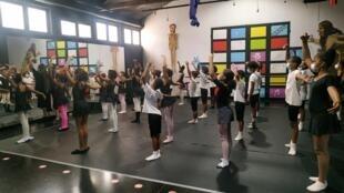 Núcleo de ballet clássico da Academia Livre de Artes Integradas do Mindelo, na ilha de São Vicente