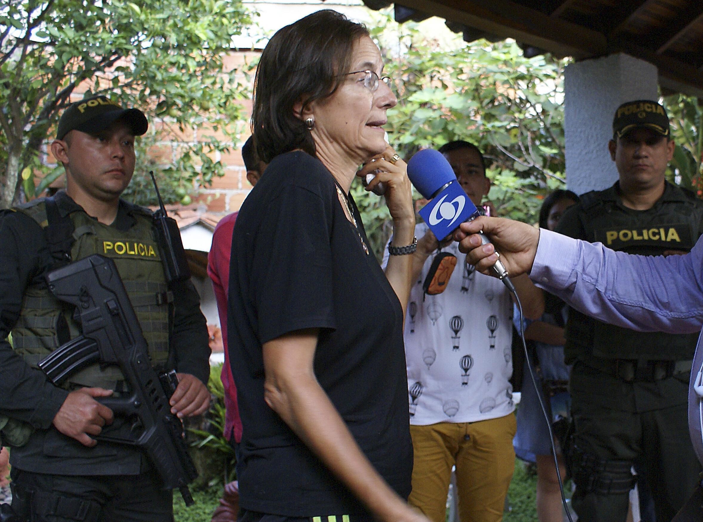 Salud  Hernández  entrevistada tras su liberación el viernes 27