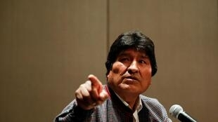 Former Bolivian President Evo Morales speaks during a news conference in Mexico City, Mexico November 20, 2019.