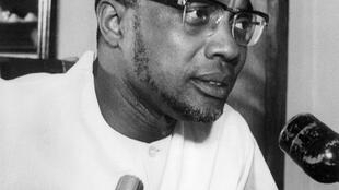 Le secrétaire général du Parti africain pour l'indépendance de la Guinée-Bissau et du Cap-Vert, Amilcar Cabral, à Cuba, en 1970.