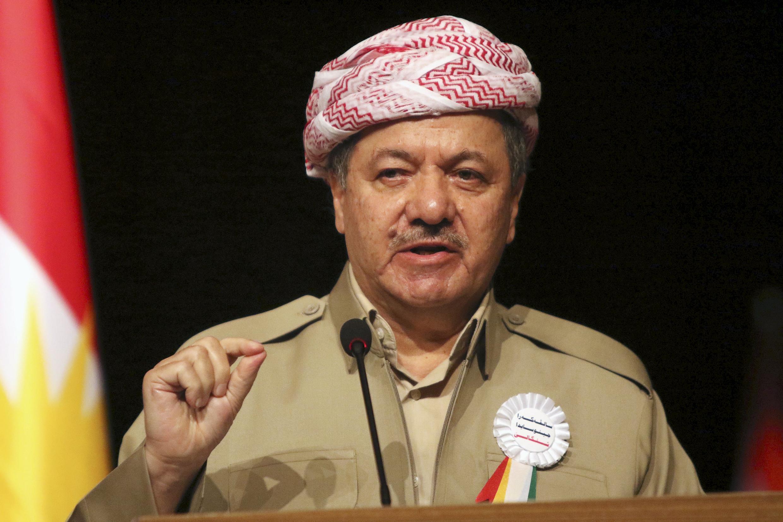 Le PDK, parti de Massoud Barzani (notre photo), remporte 45 sièges.