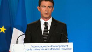 Manuel Valls à Marseille, le 29 mai 2015.
