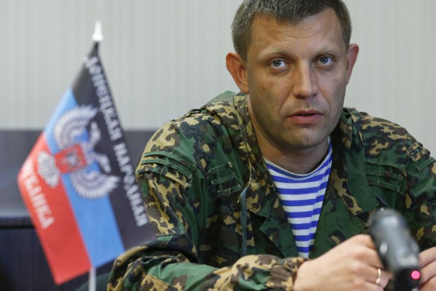 Глава самопровозглашенной ДНР Александр Захарченко, 18 августа 2014.
