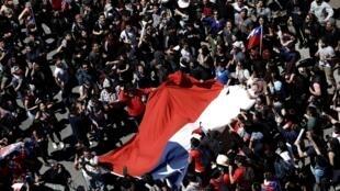 Manifestación en Concepción, Chile, este 22 de octubre de 2019.