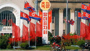 Pyongyang has been covered with banners welcoming delegates to the Workers' Party conference.