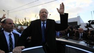 Beji Caïd Essebsi après avoir été voté à Tunis, le 21 décembre.