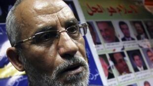 Mohamed Badie, líder da Irmandade Muçulmana, em uma entrevista no Cairo.