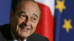 Le président Jacques Chirac, le 22 février 2005.
