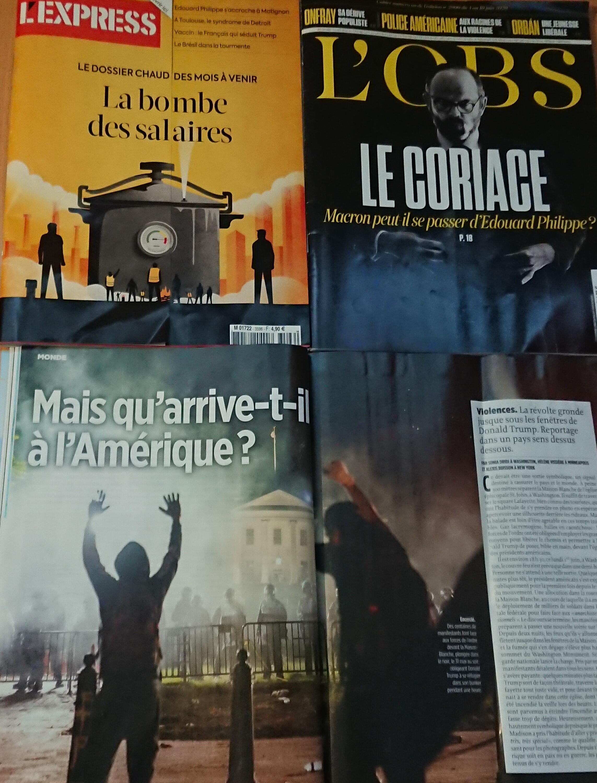 Páginas de  semanários franceses 06 06 2020