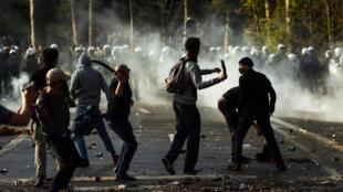 belgique bruxelles manifestation heurts police