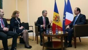 Встреча Франсуа Олланда и Юрия Лянкэ