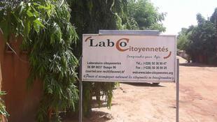 Le siège de l'association «Laboratoire Citoyennetés» à Ouagadougou.