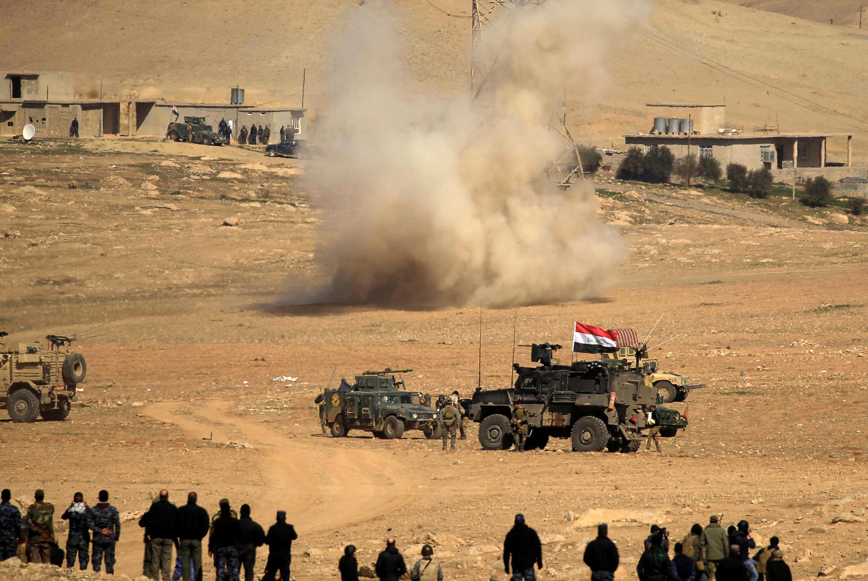 Vikosi vya Iraq vikiwa kwenye sehemu ya operesheni kwenye mji wa Mosul.