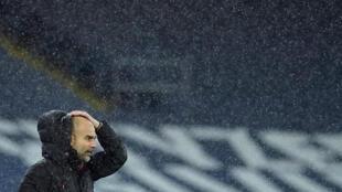 L'entraîneur espagnol de Manchester City, Pep Guardiola, lors du match de Premier League à domicile face à Newcastle, le 26 décembre 2020