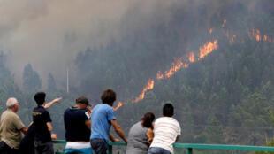葡萄牙森林大火至少61人死亡。2017-06-18