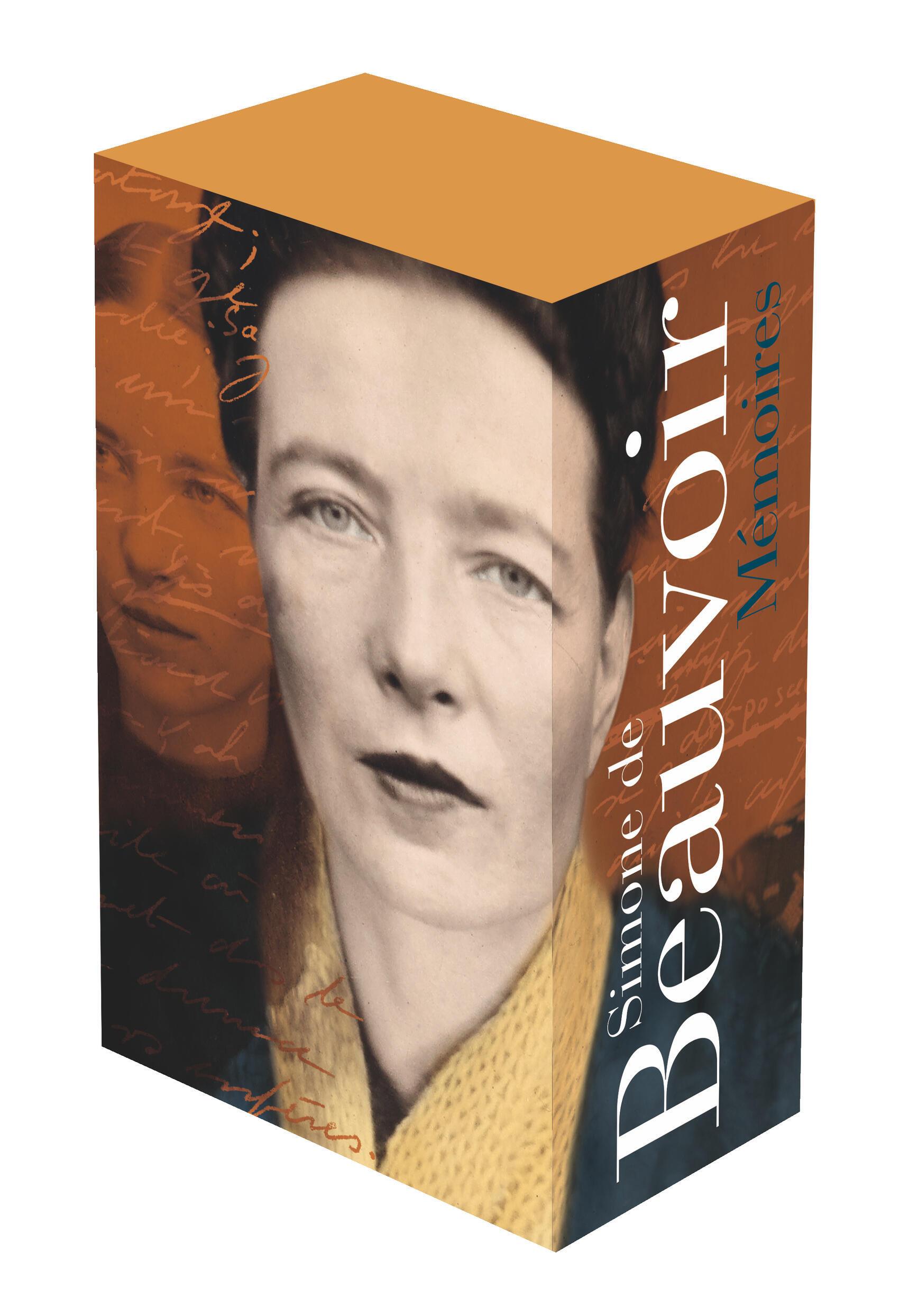 """Couverture des """"Mémoires"""" de Simone de Beauvoir dans la Pléiade."""
