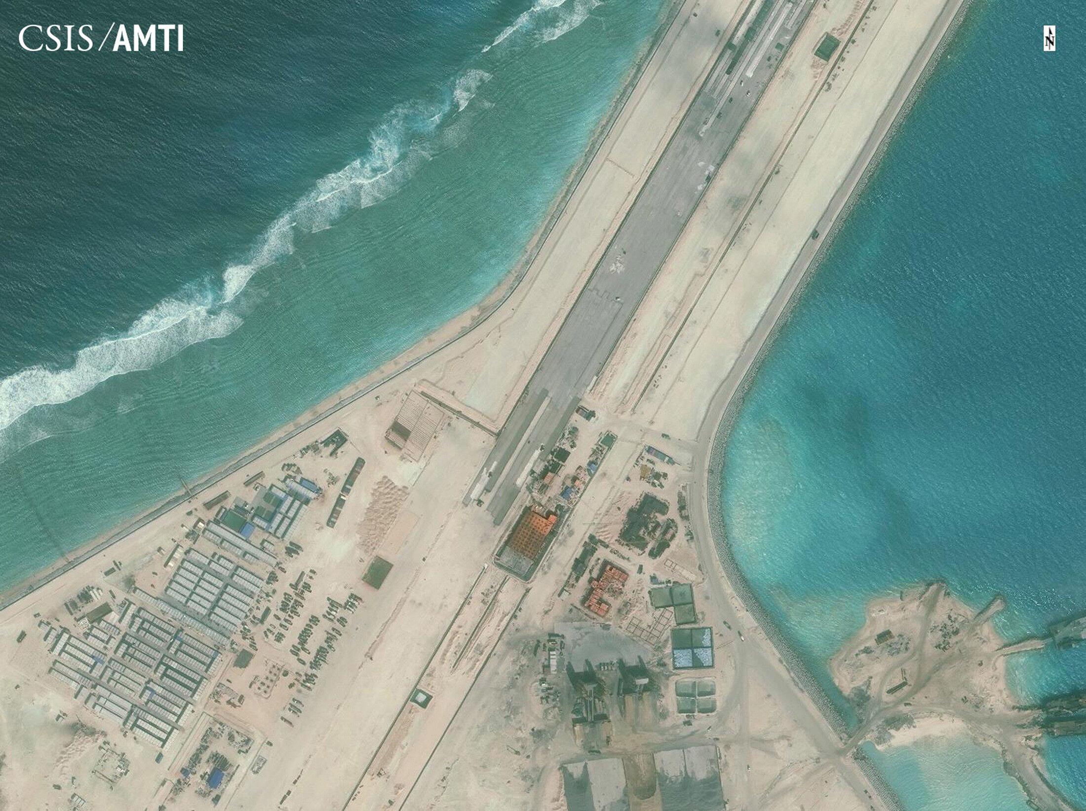 Hình chụp vệ tinh phi đạo trên đảo Subi của trung tâm  CSIS.