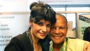 Yasmine Chouaki et Christiane Taubira.