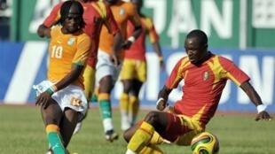 L'Ivoirien Gervinho, auteur d'un doublé.