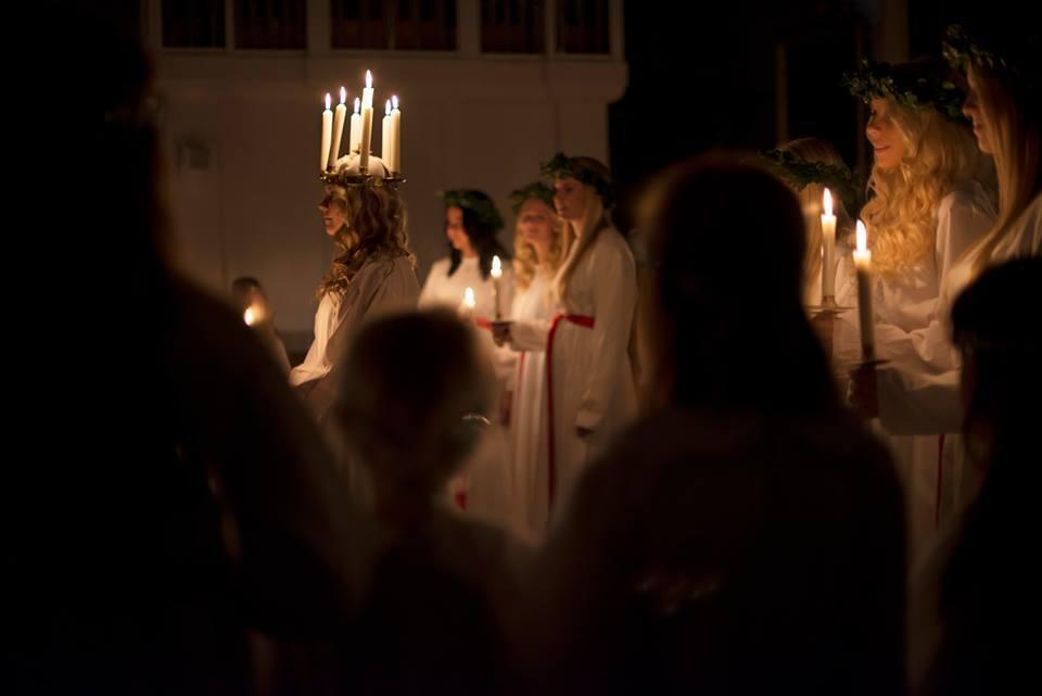 O Dia de Santa Luzia é uma das poucas festividades religiosas que é comemorada na Escandinávia.