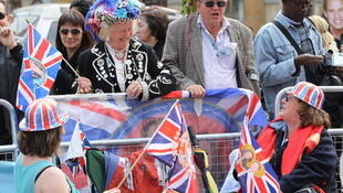 People filled the London streets in anticipation of the royal wedding