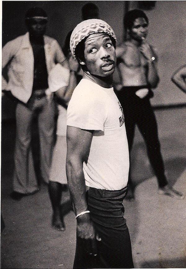 Souleymane Koly avec le Kotéba d'Abidjan en 1980.